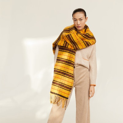 Maxi Checked Scarf
