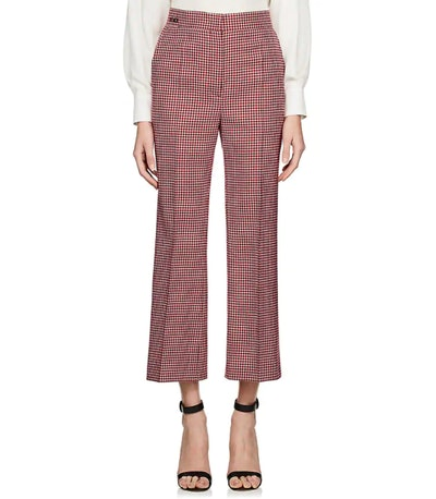 Fendi Checked Wool Crop Trousers