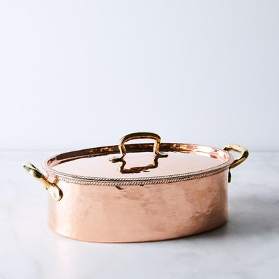Coppermill Kitchen Vintage Copper French Oval Casserole Dish, Late 19th Century