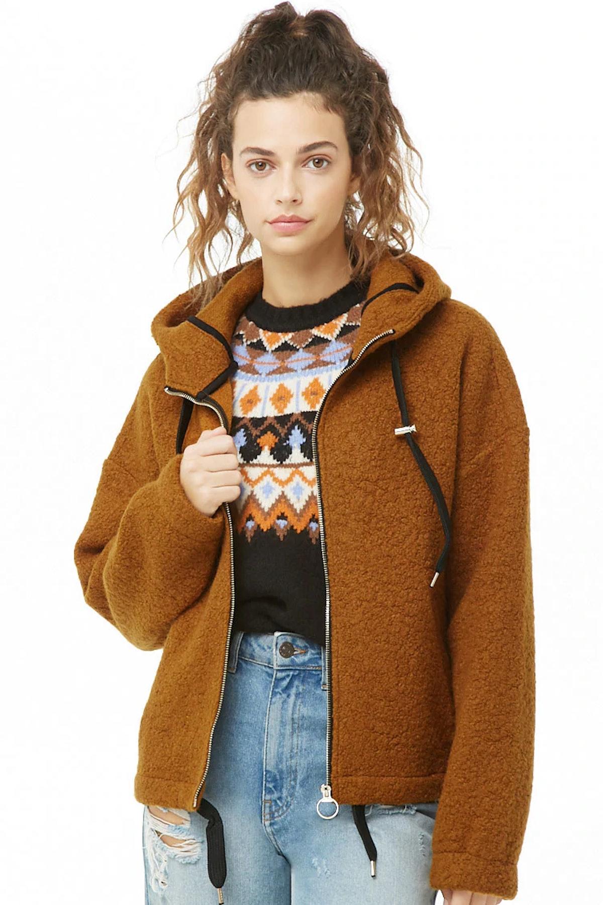 Wool-Blend Hooded Jacket