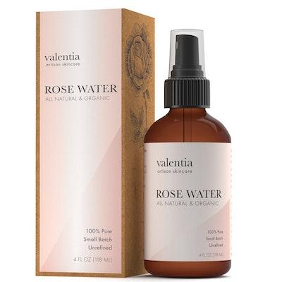 Valentia Organic Rose Water Toner Spray