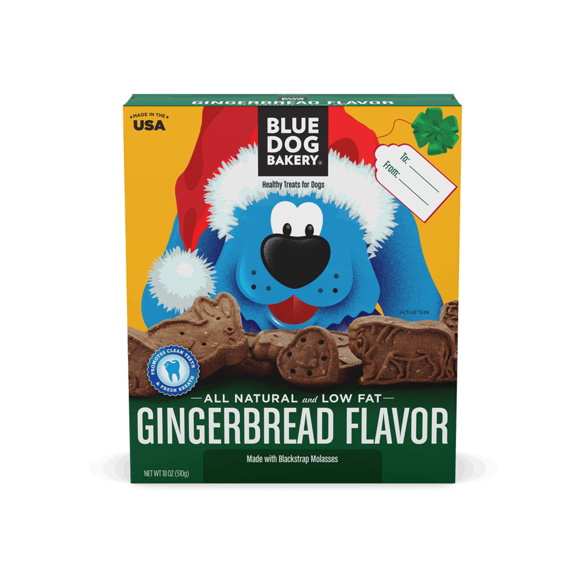 Blue Dog Bakery Gingerbread Cookie Dog Treats