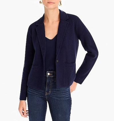Margot Cropped Sweater-Blazer
