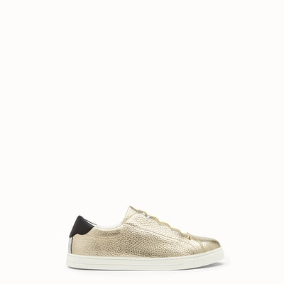 Golden Leather Sneakers