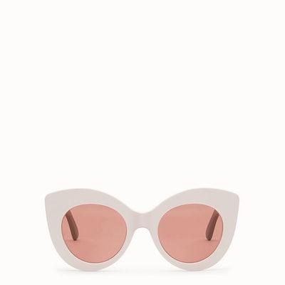 F Is Fendi Pink And Mauve Sunglasses