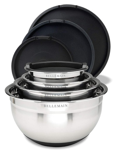 Bellemain Stainless Steel Mixing Bowls (4 Bowls)
