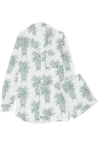 Dempsey & Dempsey Printed cotton-voile pajama set