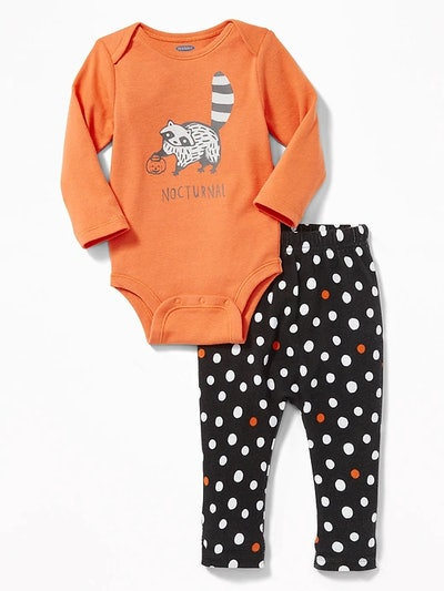 Graphic Body Suit And Pants