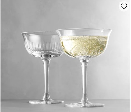 Monique Lhullier Avril Small Cut Glass Coupe