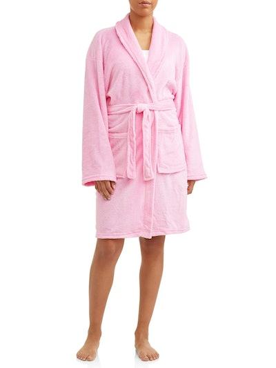 Mayfair Women's Solid Velvet Robe