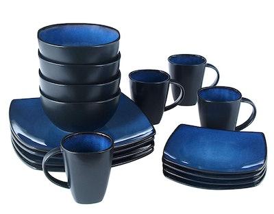 Gibson Home Reactive Stoneware Soho Round Dinnerware Set (16 Pieces)