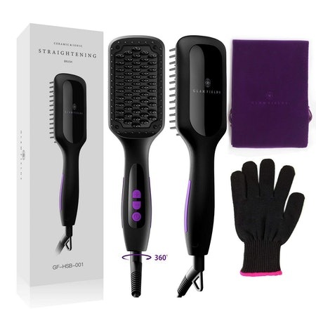 GLAMFIELDS Ionic Hair Straightener Brush