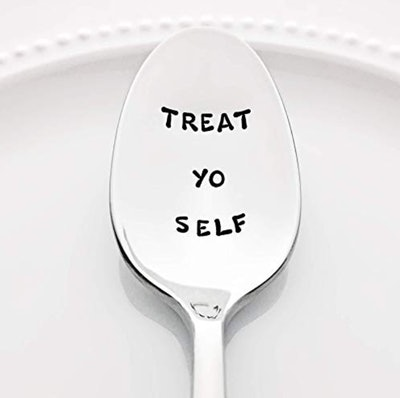 Parks and Recreation: Treat Yo Self - Stainless Steel Stamped Spoon