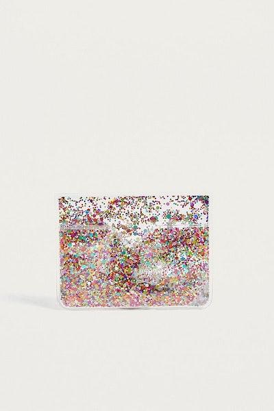 Skinnydip Fiesta Rainbow Glitter Cardholder Wallet
