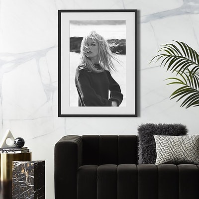 "Bardot Poses with Black Frame 31""x42"""