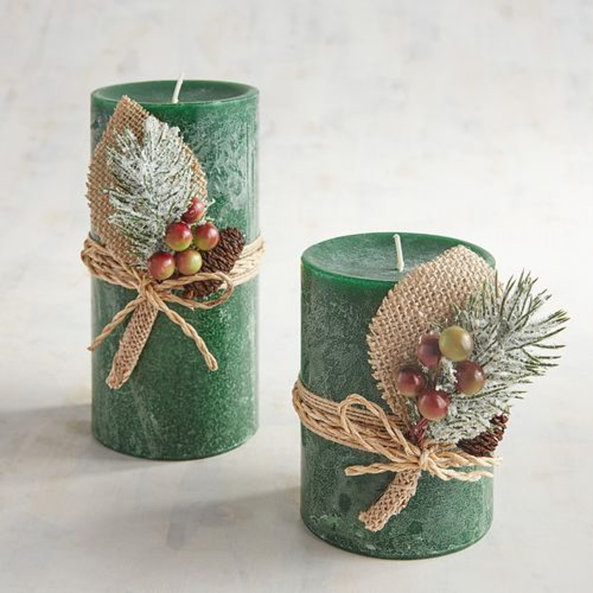 Pier 1 Holiday Forest Collection Pillar Candles