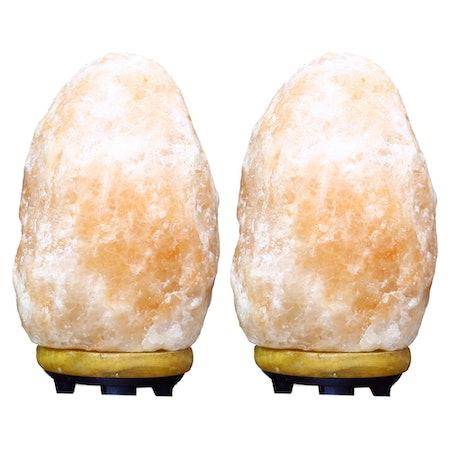 Himalayan Glow Natural Crystal Salt Lamp Twin Pack