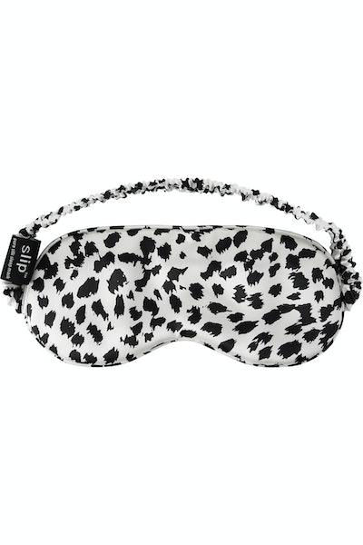 Slip Leopard-print silk eye mask