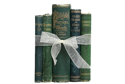 Antique Book Gift Set: Emerald Poetry