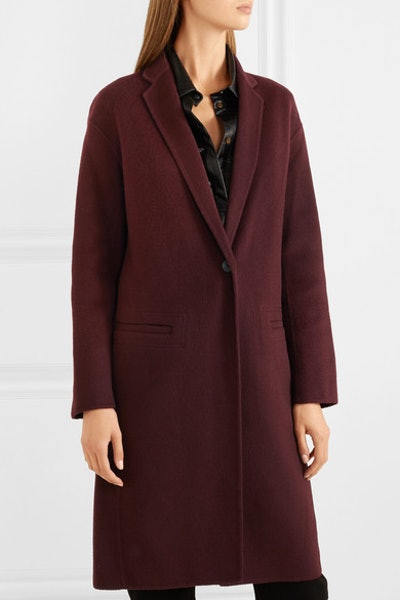 Brushed Wool-Blend Coat