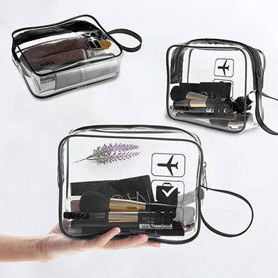 TSA-Approved Clear Travel Toiletry Bags