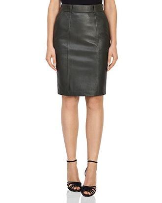 Kara Leather Pencil Skirt