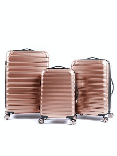 iFLY Hard Sided Fibertech Luggage, 3 Piece Set
