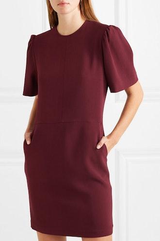Cutout Stretch-Cady Mini Dress