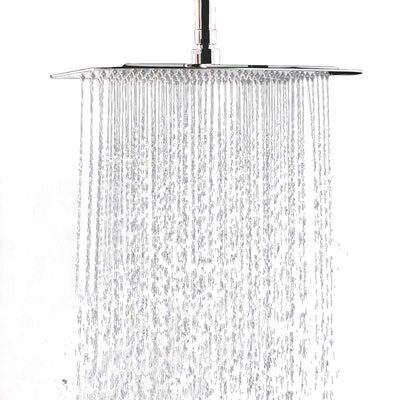WYJP 12 Inch Large Square Rain Showerhead