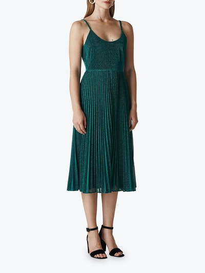 Whistles Regina Sparkle Pleat Dress