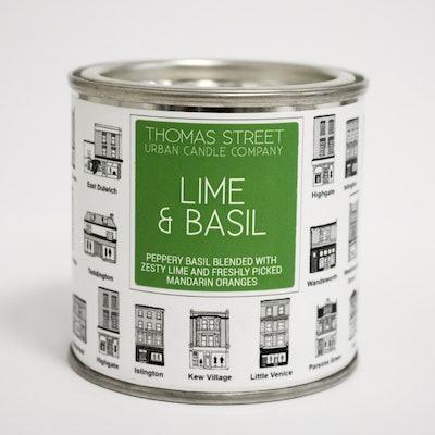 Thomas St Lime And Basil Candle