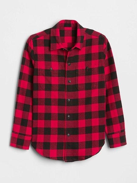Boys' Buffalo Plaid Flannel Shirt