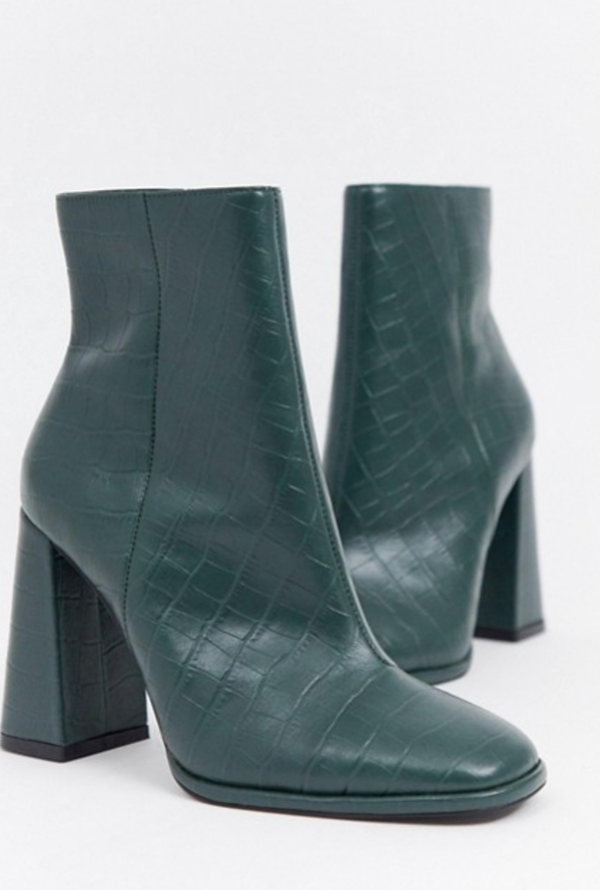 ASOS Design Endless Leather Heeled Boots