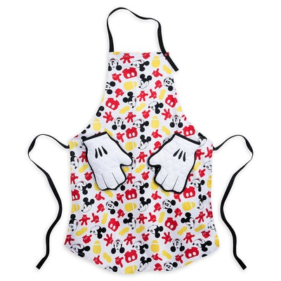Mickey Mouse Apron and Oven Mitt Set for Adults