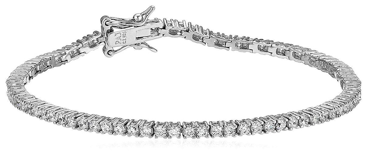 Amazon Essentials Sterling Silver Tennis Bracelet