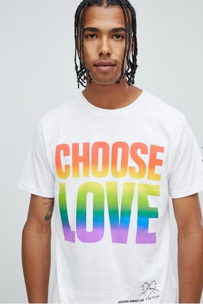 Help Refugees Choose Love Organic Cotton Rainbow Print T-shirt
