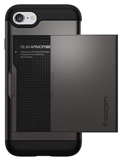 Spigen Slim Armor CS Smartphone Case With Card Slot Holder