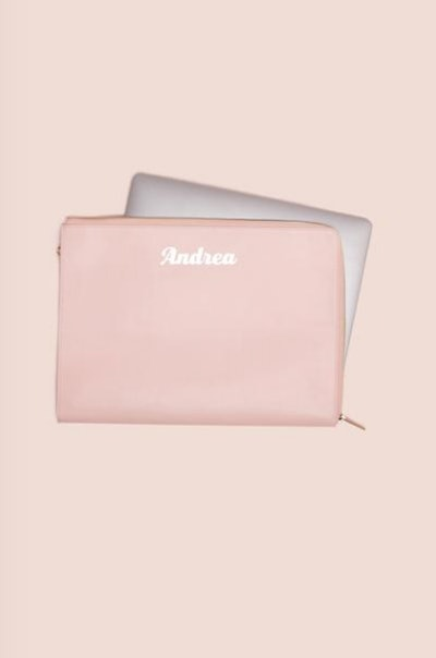 Laptop Pouch in Vegan Cotton Candy