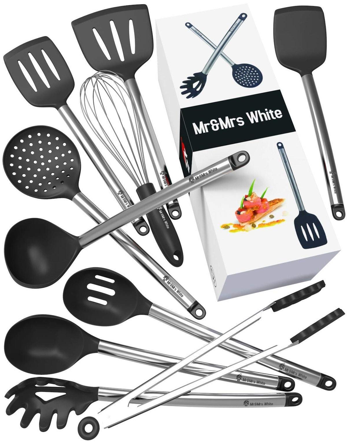 Mr&Mrs White Kitchen Utensil Set