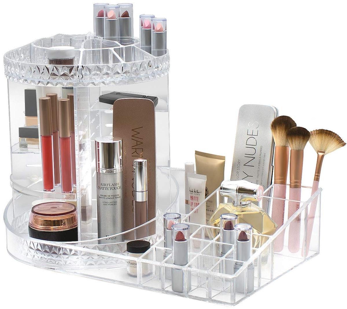 Sorbus Rotating Makeup Organizer Station