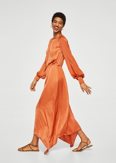 Satin Gown in Orange