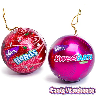 SweeTarts & Nerds Candy Tin Christmas Ornaments
