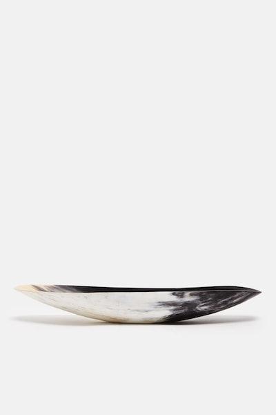 Tenfold New York African Horn Oblong Vessel - Black
