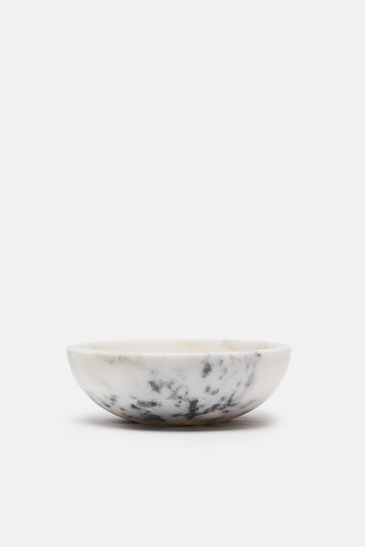 Tenfold New York Small Marble Bowl - White