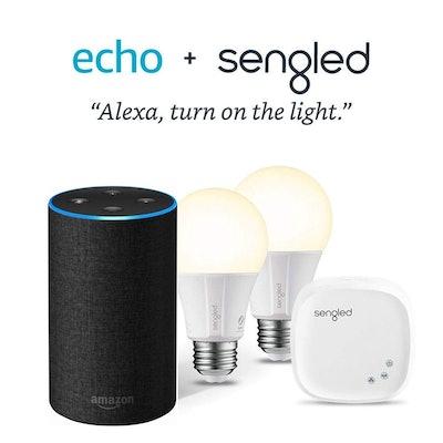 Amazon Echo With  Charcoal Fabric And Sengled Starter Kit