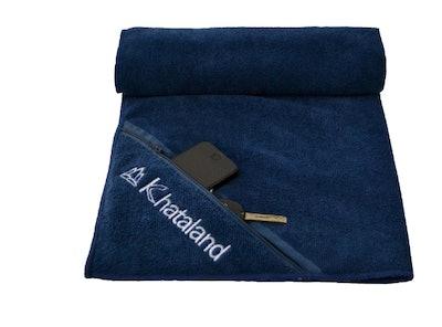 Khataland Premium Sports Towel with Zipper Pocket