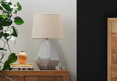 Rivet Diamond Cut Concrete Table Lamp
