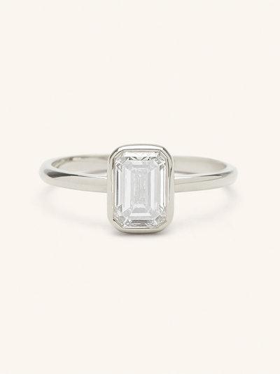 The Emerald Diamond Bezel Engagement Ring