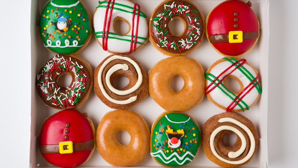 Christmas Flavors.Krispy Kreme S 2018 Holiday Doughnuts Are Back With Your