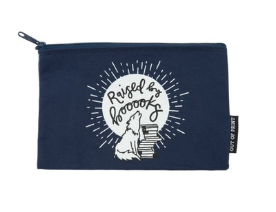 'Raised By Books' Pouch